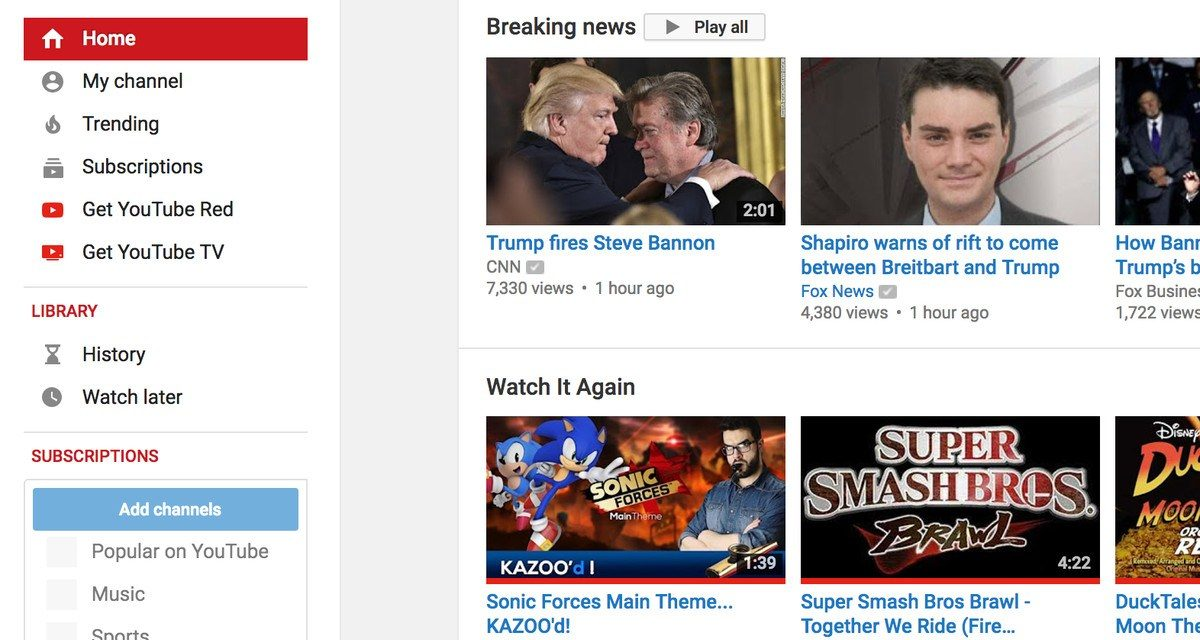 Youtube Introduces Breaking News Hub onto its Homepage