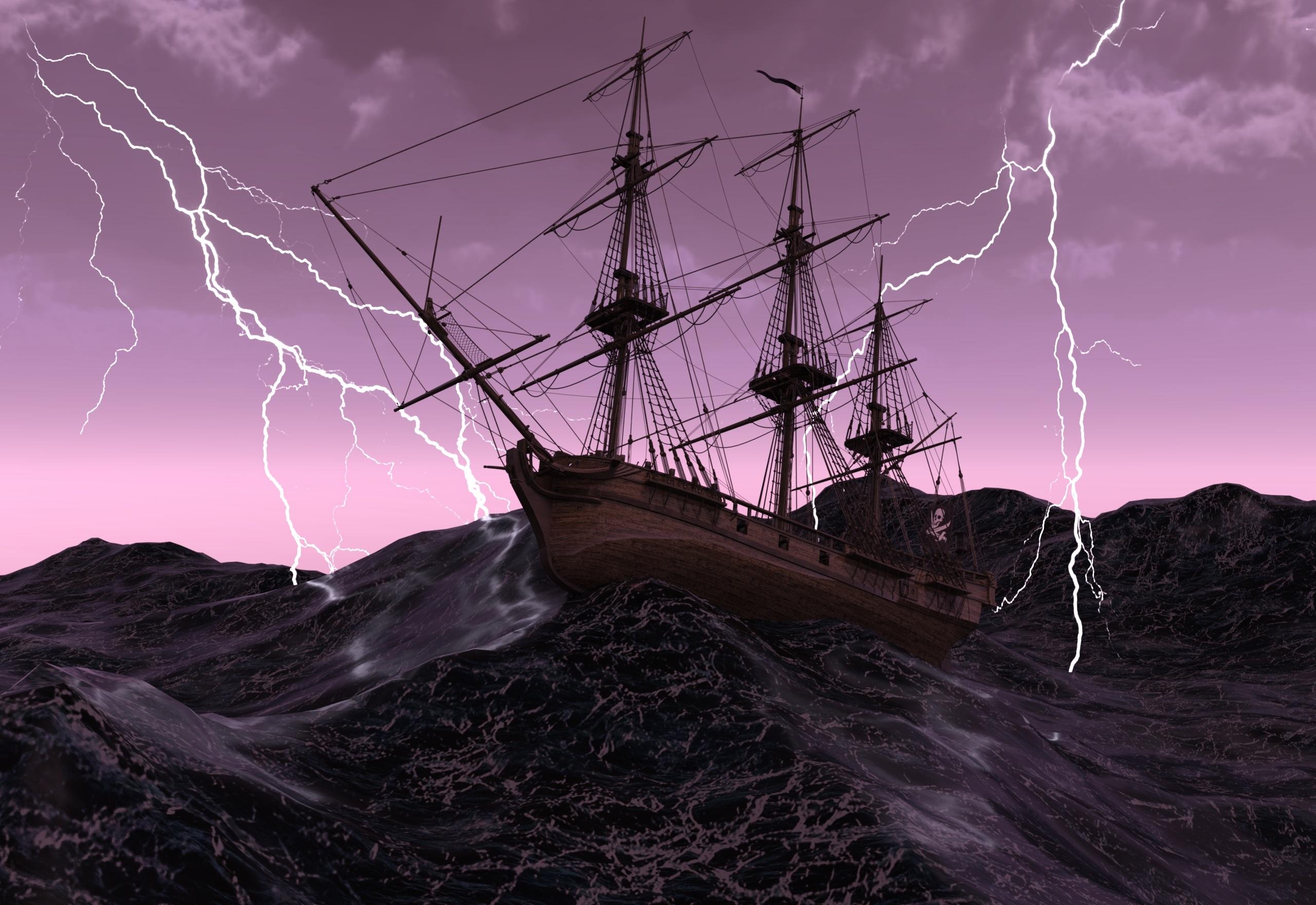 ship, sailing vessel, old