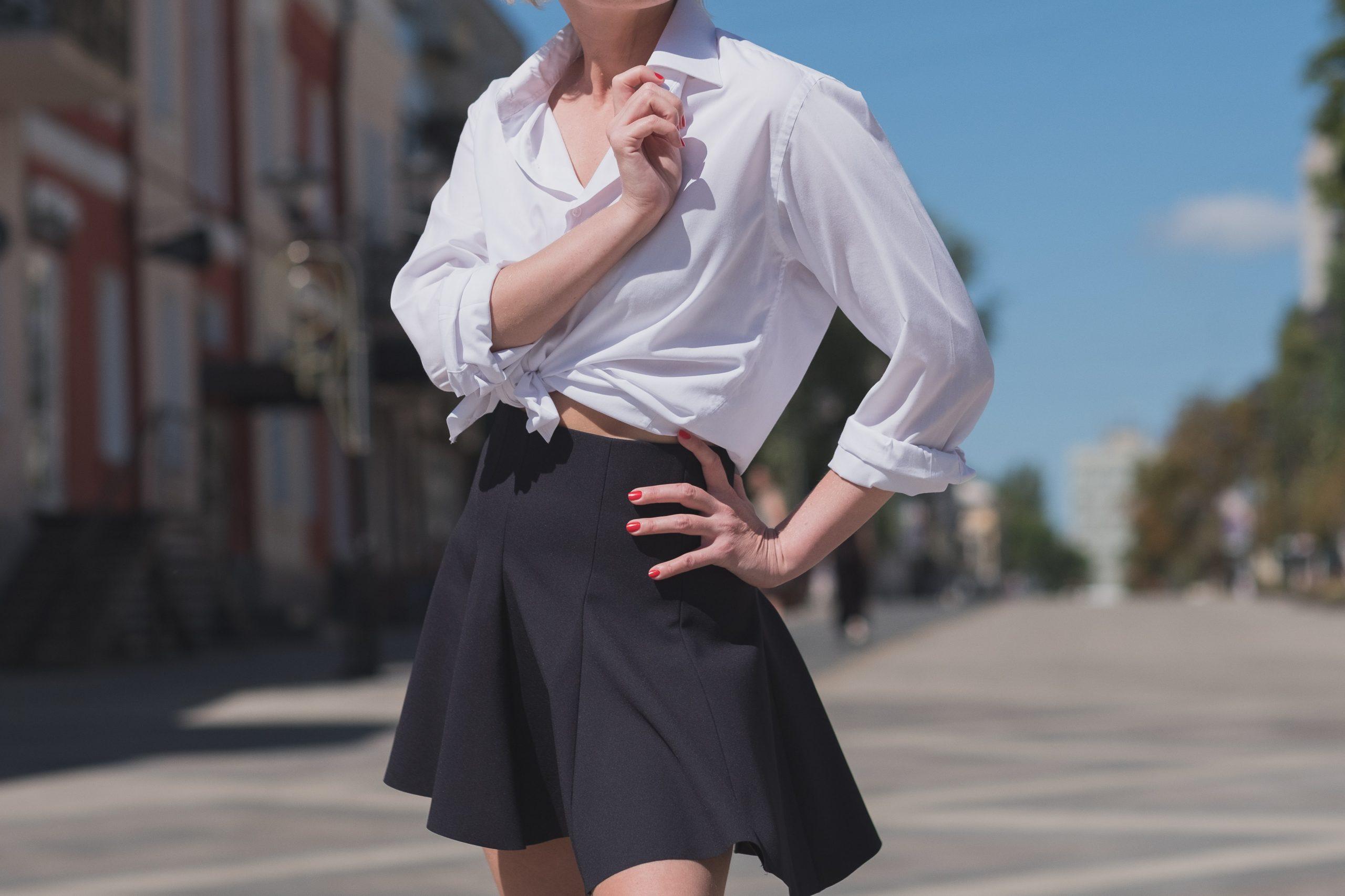 woman fashion sexy skirt